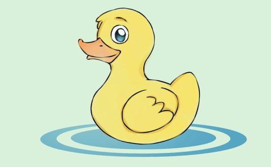چگونه یک اردک زیبا و بامزه نقاشی کنیم؟