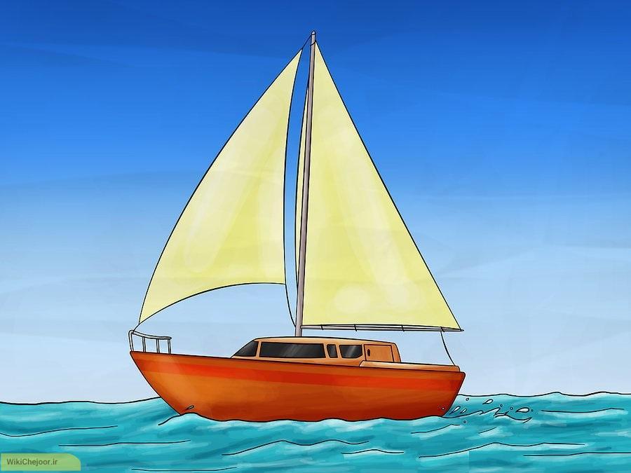 چگونه قایق بادبانی نقاشی کنیم؟
