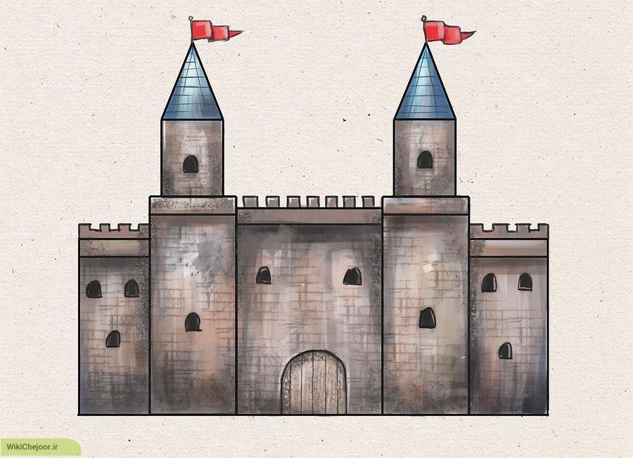 چگونه قلعه ی دوره ی قرون وسطی رسم کنیم؟