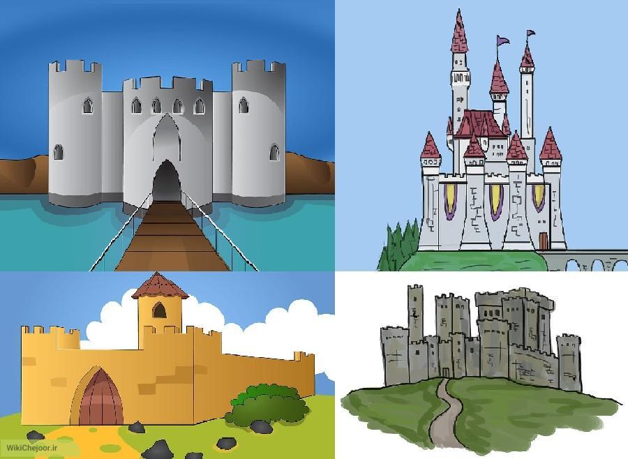 چگونه با استفاده از اشکال ساده قلعه های متفاوت و زیبایی نقاشی کنیم؟؟