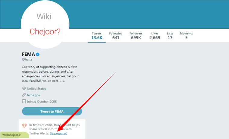 فعال کردن هشدار های توییتر (Twitter)