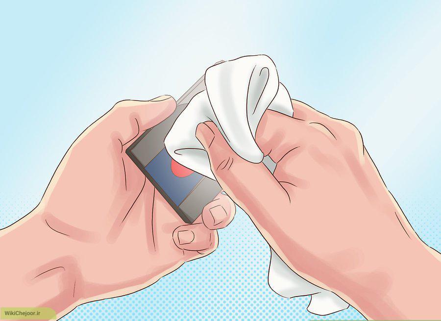 پاک کردن اسکنر بیومتریک