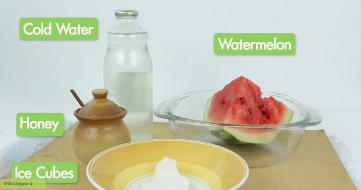 تهیه آب هندوانه با استفاده از مخلوط کن