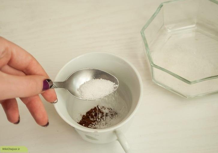 تهیه قهوه خامه ای
