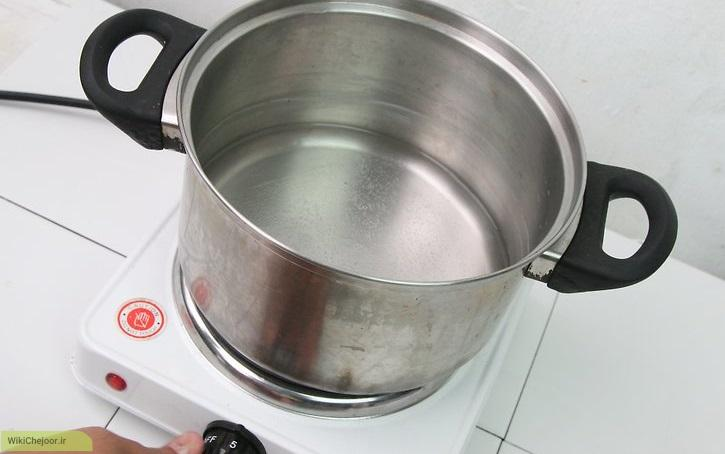 تهیه ی شیرنارگیل با استفاده از نارگیل های خرد شده