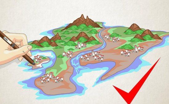 چگونه نقشه یک مکان خیالی را رسم کنیم؟