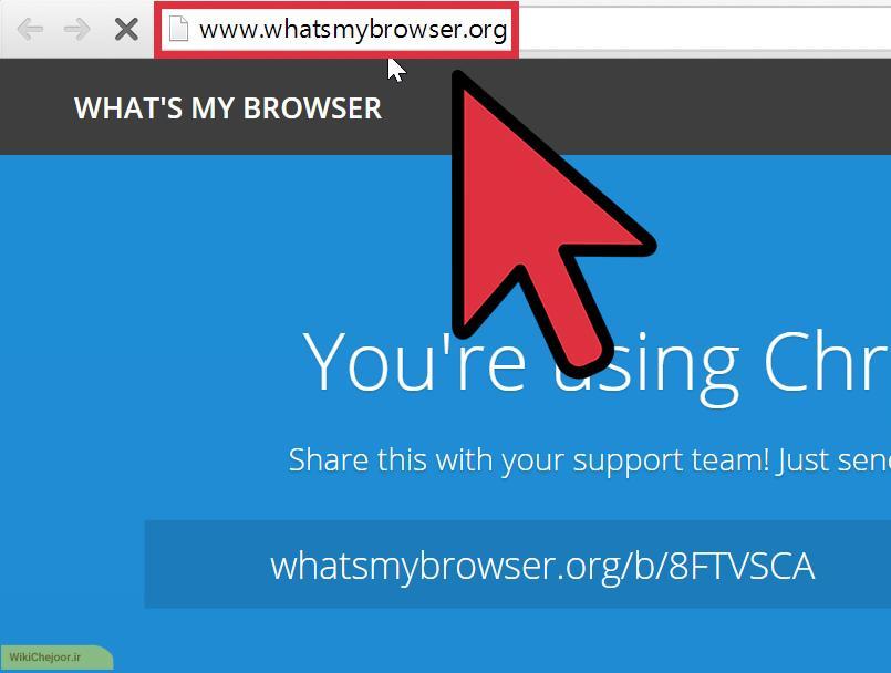 با استفاده از whatsmybrowser.org