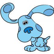 چگونه یک سگ کارتونی آبی رنگ نقاشی کنیم؟