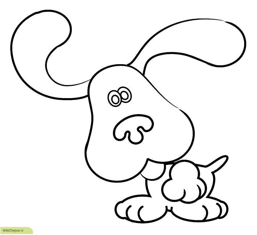 رسم سگ کارتونی