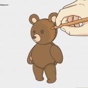 چگونه خرس تدی رسم کنیم؟