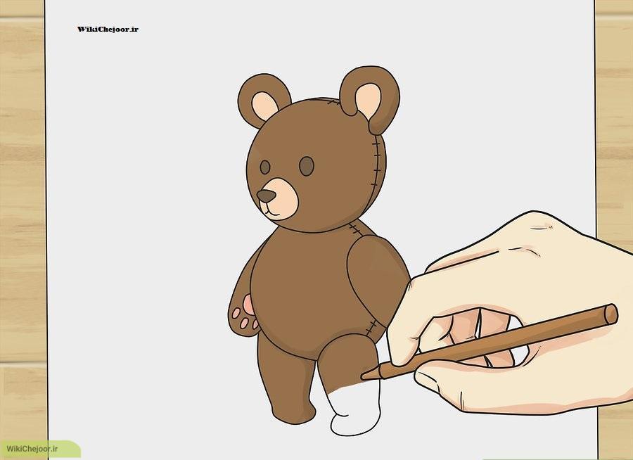 رنگ آمیزی خرس تدی