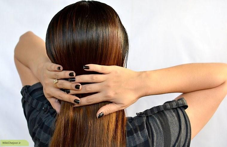 مراحل صاف کردن مو ها بدوناستفاده از اتو