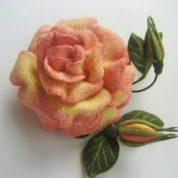 چگونه گل رز کچه ای درست کنیم؟