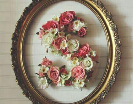 چگونه سبد و تابلو گل به شکل حروف درست کنیم؟