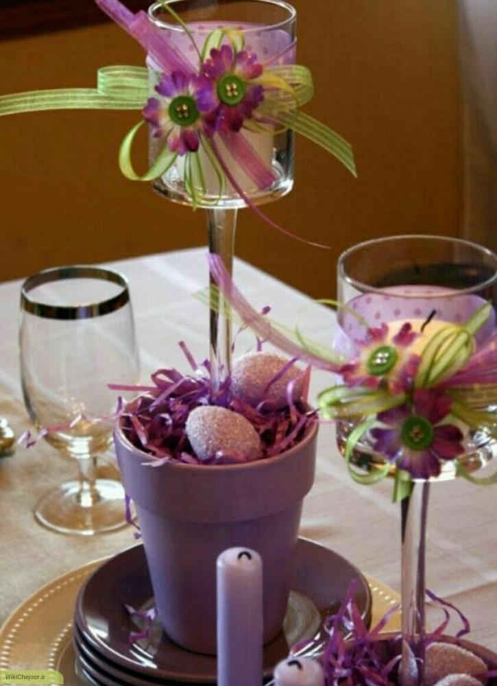 چگونه گلدان جا شمعی دکوری زیبا درست کنیم؟