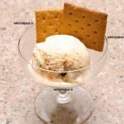 چگونه بستنی چیز کیکی درست کنیم؟