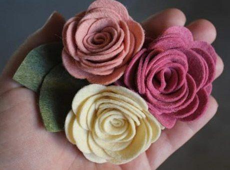 چگونه گل های نمدی زیبایی درست کنیم؟ (سری دوم)