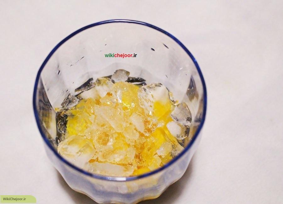 طرز درست کردن یخ در بهشت انبه ای