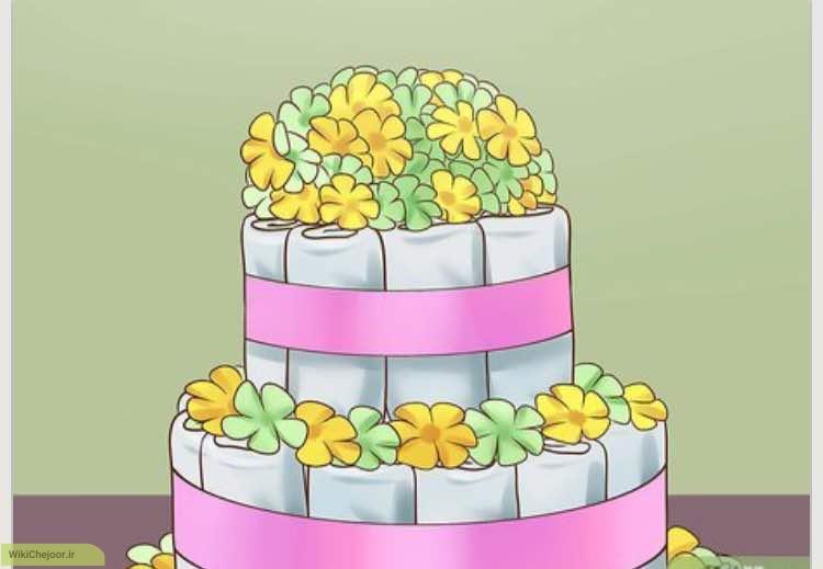 نحوه ساخت کیک پوشک (دایپر)