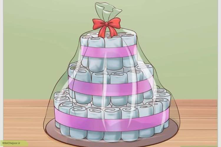 چگونه کیک پوشک برای سیسمونی درست کنیم؟