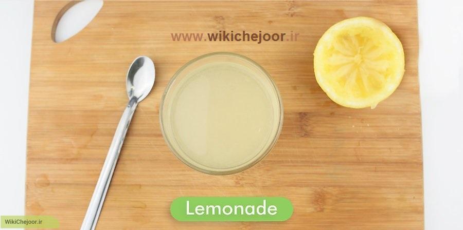 لیموناد توت فرنگی (روش سوم)