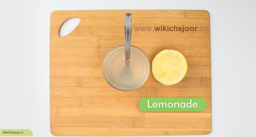 لیموناد توت فرنگی (روش دوم)