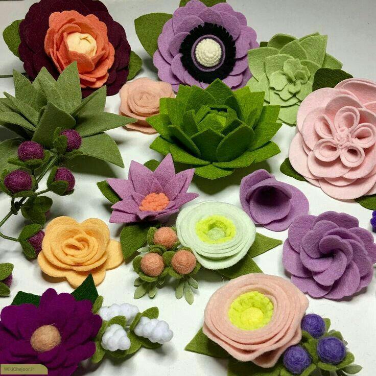چگونه گل های نمدی زیبایی درست کنیم؟(سری سوم)