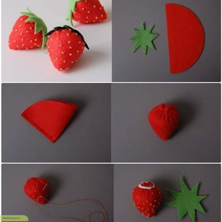 ایده هایی برای توت فرنگی نمدی