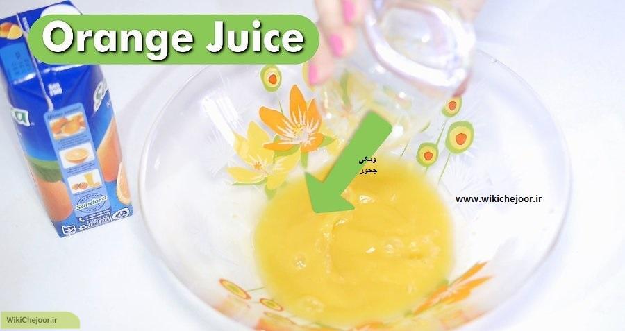 سالاد میوه با آب پرتقال