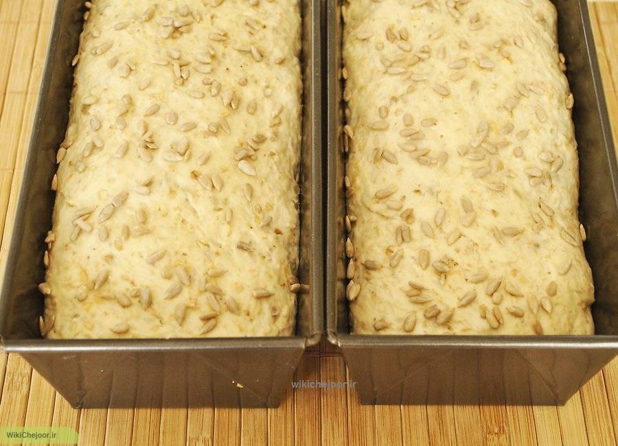 طرز تهیه نان جوی آفتابگردان