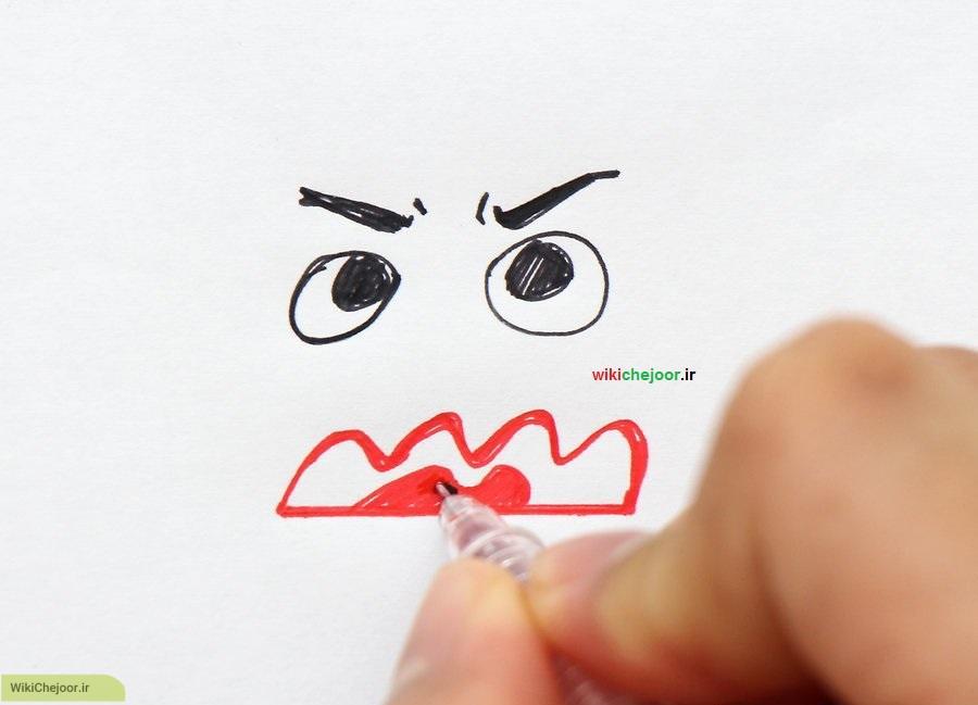 نقاشی صورت های عصبانی