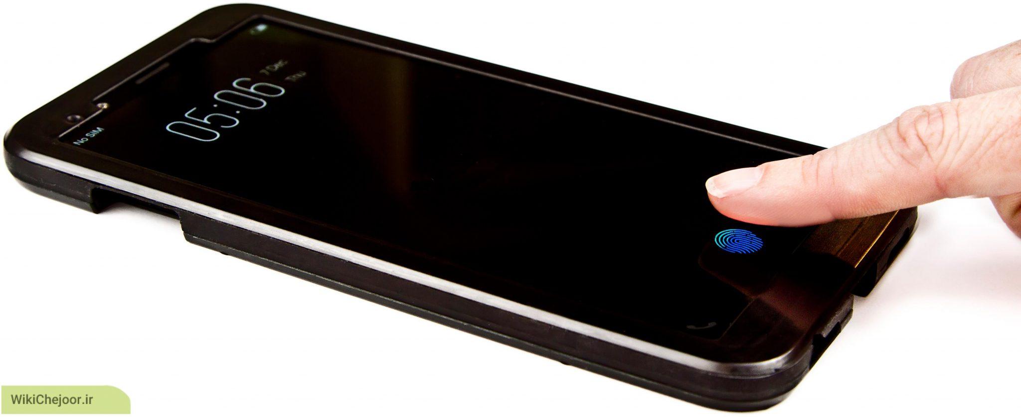 اسکنر اثر انگشت خازنی ( Capacitive fingerprint scanner )