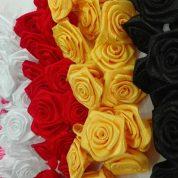 چگونه گل رز ربانی، ابریشمی و ساتنی درست کنیم؟