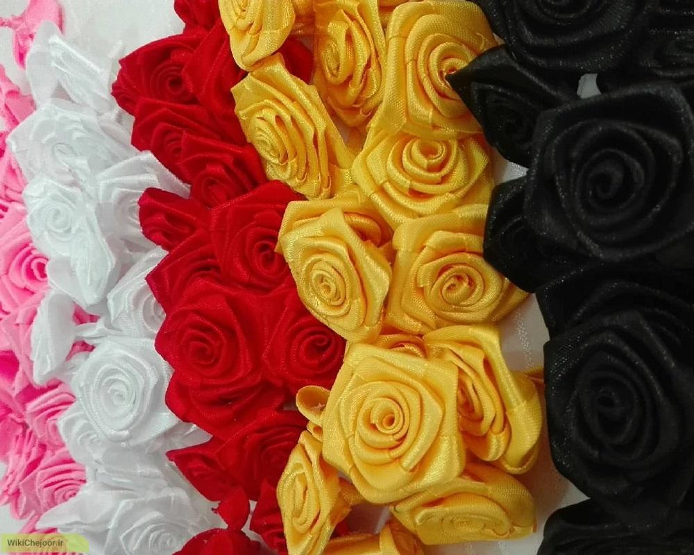 چگونه گل رز روبانی، ابریشمی و ساتنی درست کنیم؟