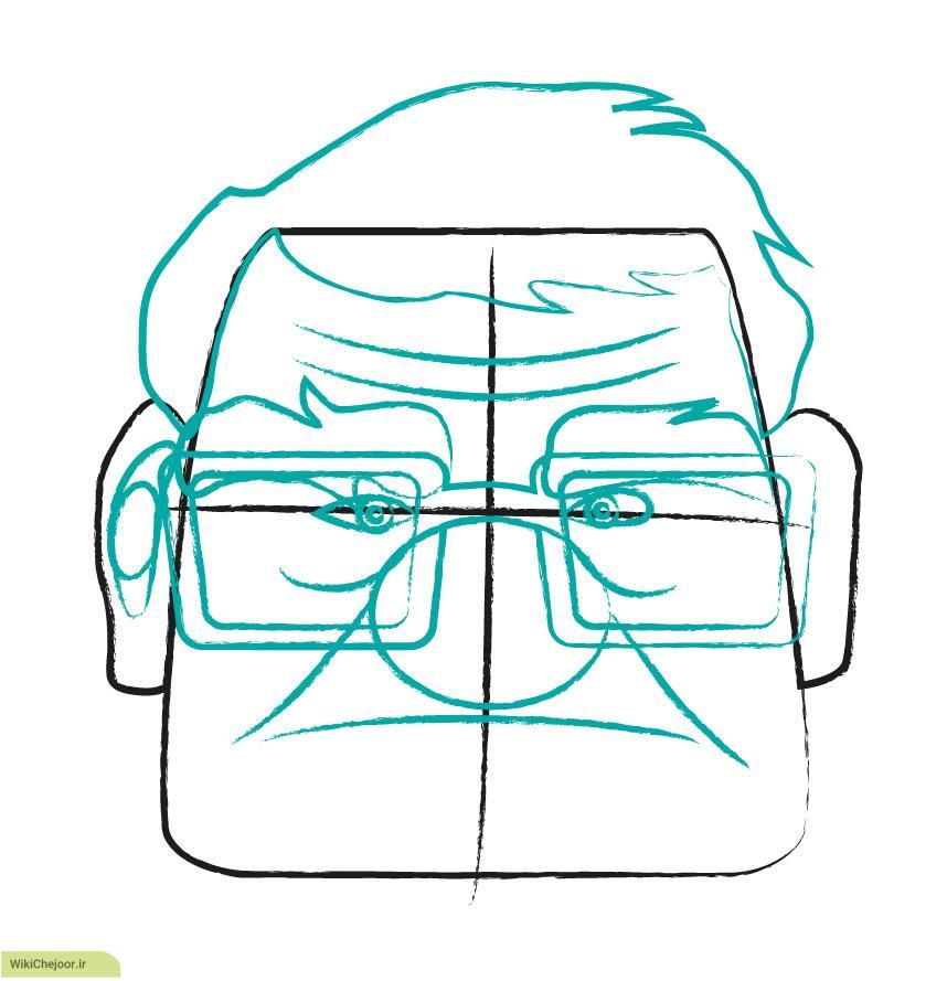 نقاشی پیرمرد کارتون آپ