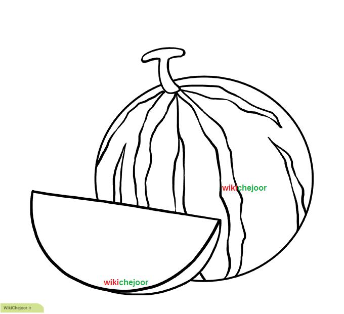 نقاشی هندوانه (مدل اول)