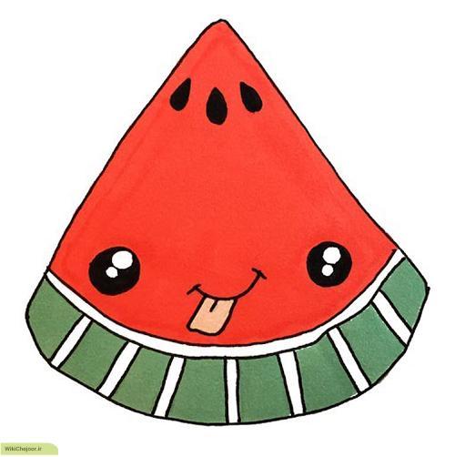 نقاشی قاچ هندوانه