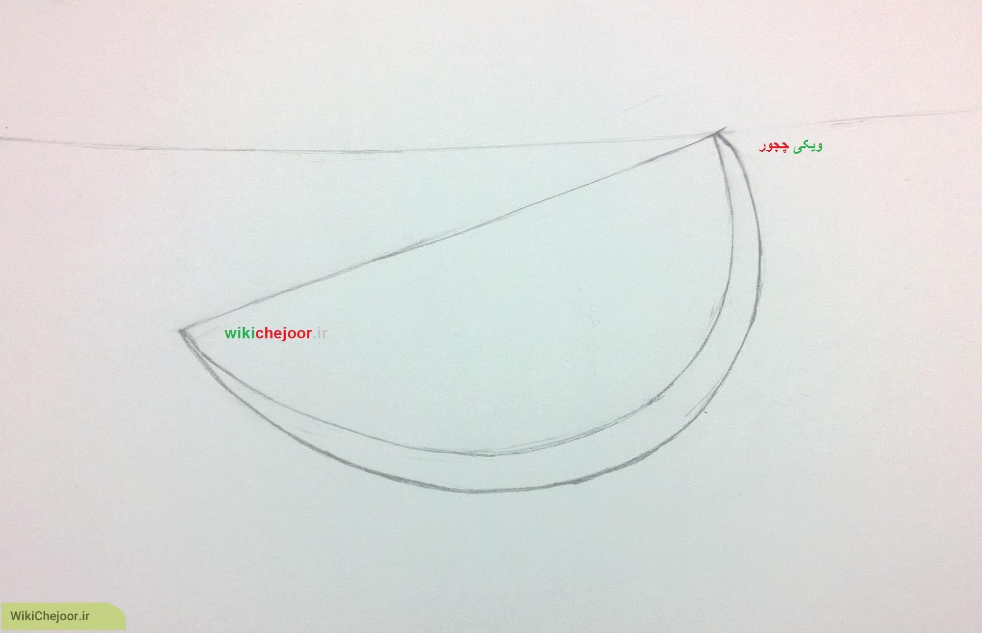 نقاشی قاچ هندوانه کارتونی