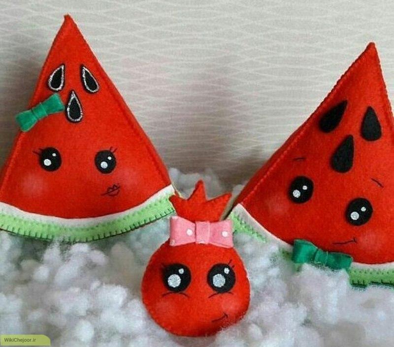 نمونه قاچ هندوانه نمدی