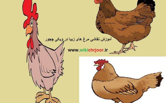 چگونه مرغ های زیبا و با مزه ای نقاشی کنیم؟