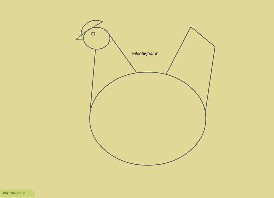 نقاشی یک مرغ ریبا و آسون