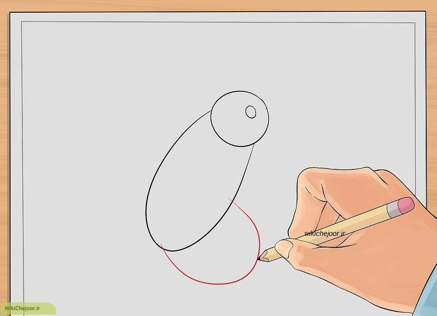 نقاشی مرغ زرین پر یا مرغ مگس خوار