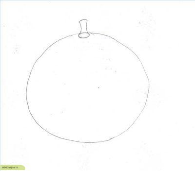 آموزش نقاشی پرتقال (2)
