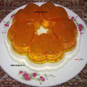 چگونه دسرکرم وانیلی با ژله پرتقالی و تخم شربتی درست کردم؟