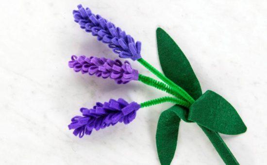 چگونه گل سنبل نمدی برای سفره هفت سین درست کنیم؟