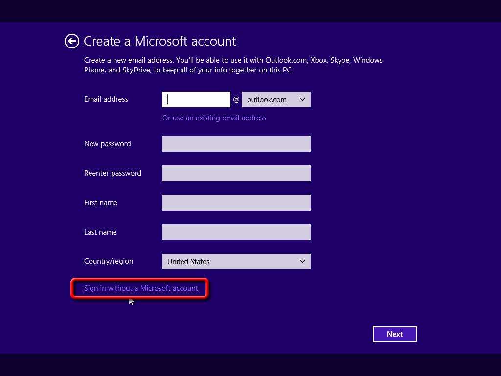چگونه اکانت مایکروسافت ایجاد کنیم؟