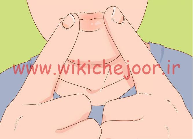 قرار دادن لب و انگشتان در موقعیت مناسب