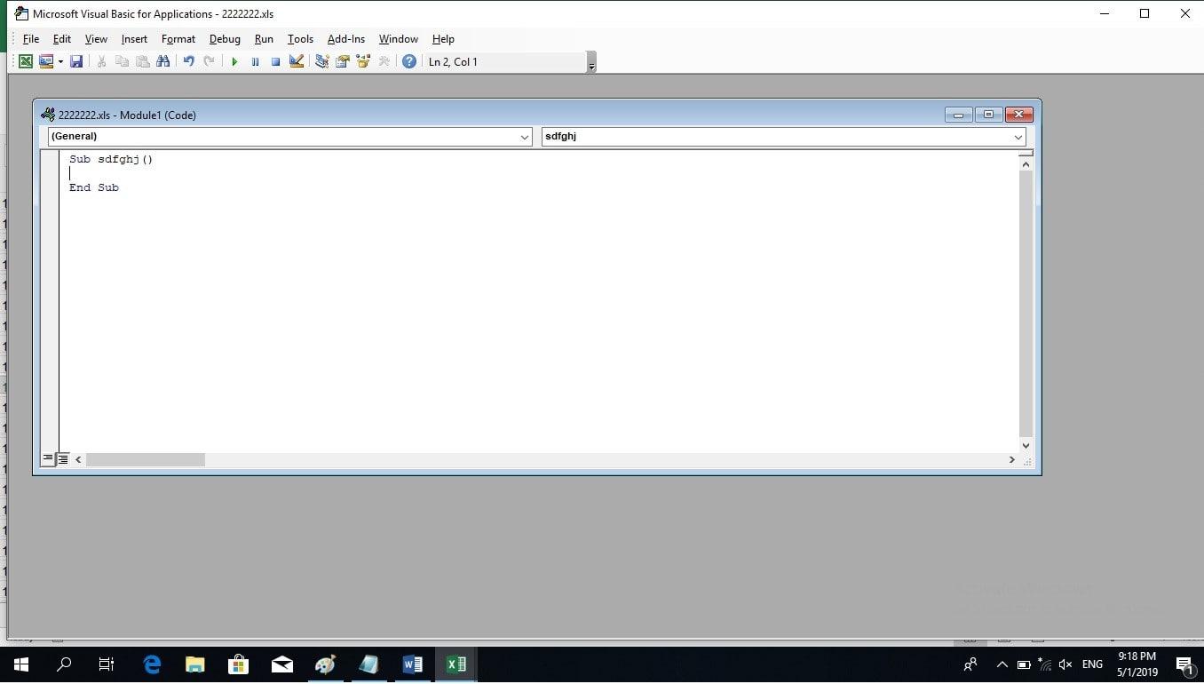 حذف کردن سطرهای اضافه با استفاده از کد ماکرو