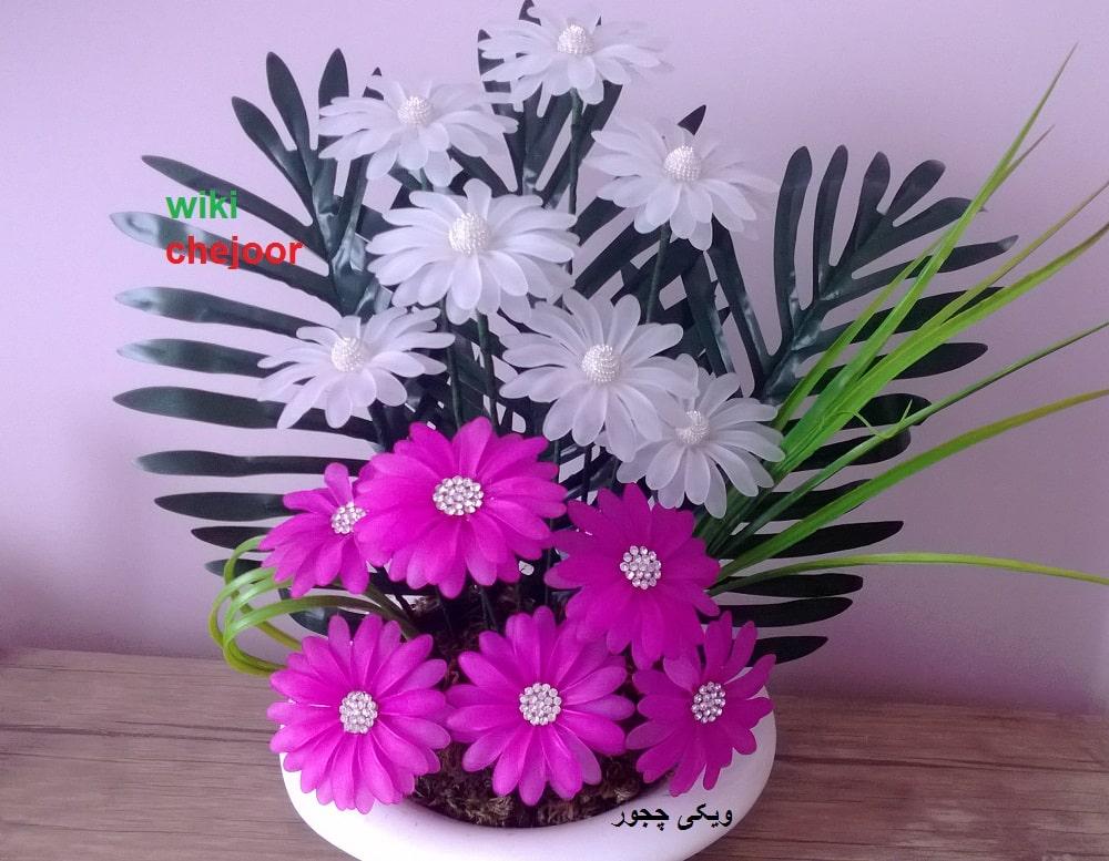 چگونه گل مارگریت کریستالی درست کنیم؟