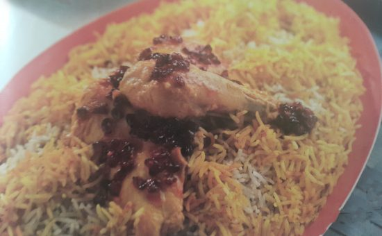 چگونه ادویه پلو ی دو رنگ با خوراک مرغ مجلسی بپزیم ؟